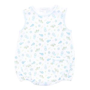 Ocean Wonders Blue Printed Sleeveless Bubble