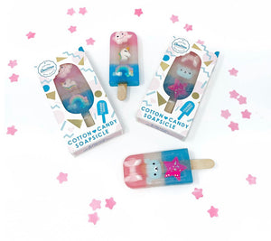 Cotton Candy Soapsicle with Assorted Charm Trio