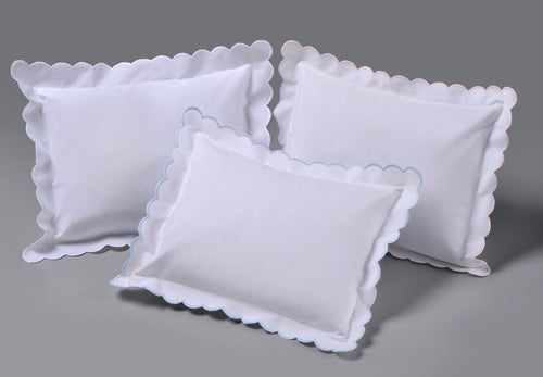 Double Scallop Monogram Pillow