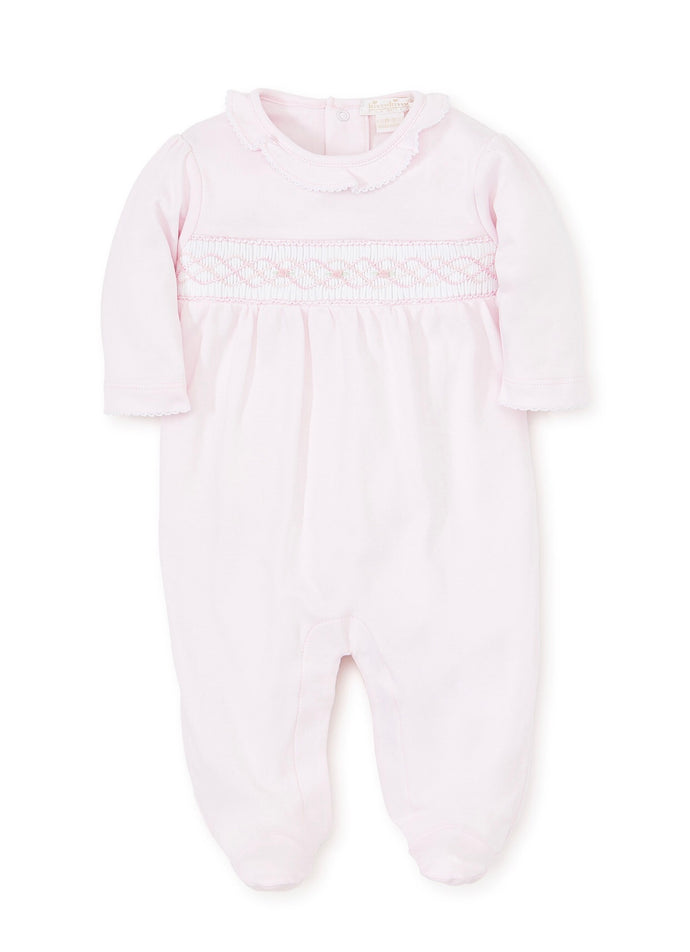Hand Smocked Footie Pink