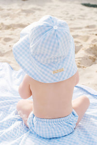 Sawyer Sunhat Buckhead Blue Gingham