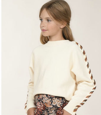 Knitted Sweater Twisted Sleeves