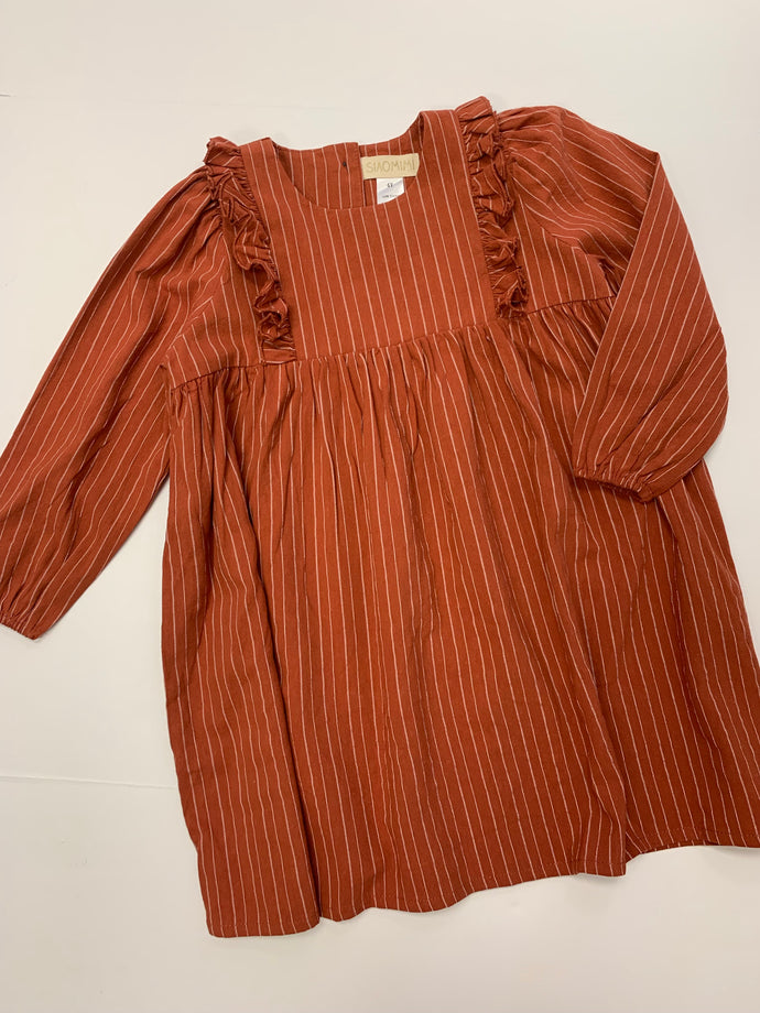 Eli Dress Rust Stripe
