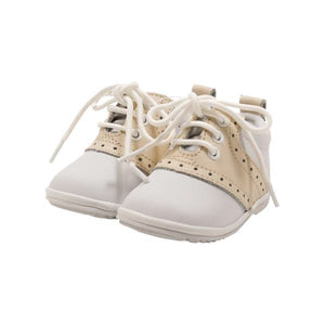 Oxford Shoe, White/beige