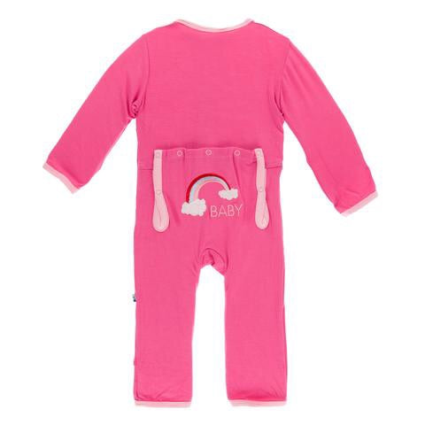 Coverall Rainbow Baby in Flamingo