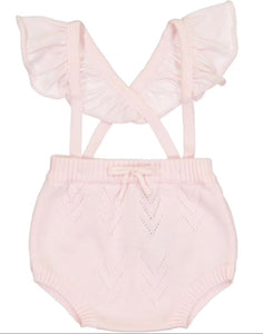 Ruffle Suspender Bloomer in Pink