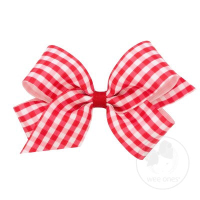 Medium Gingham Bow
