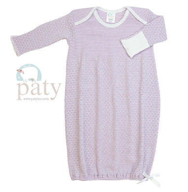 Lavender Lap Shoulder Baby Gown