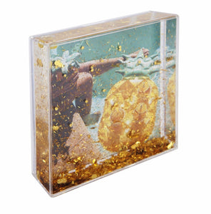Glitter Picture Frame Square Pineapple
