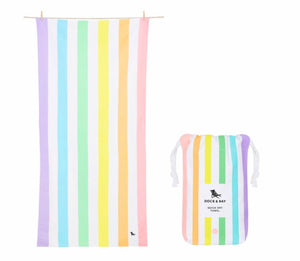 Dock and Bay Towel- Multi stripes