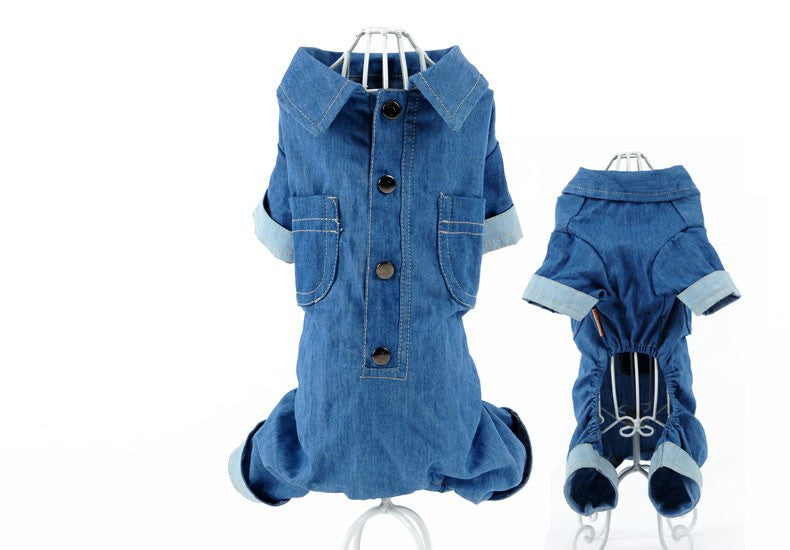 Denim Fit Jumpsuit - Pupdress
