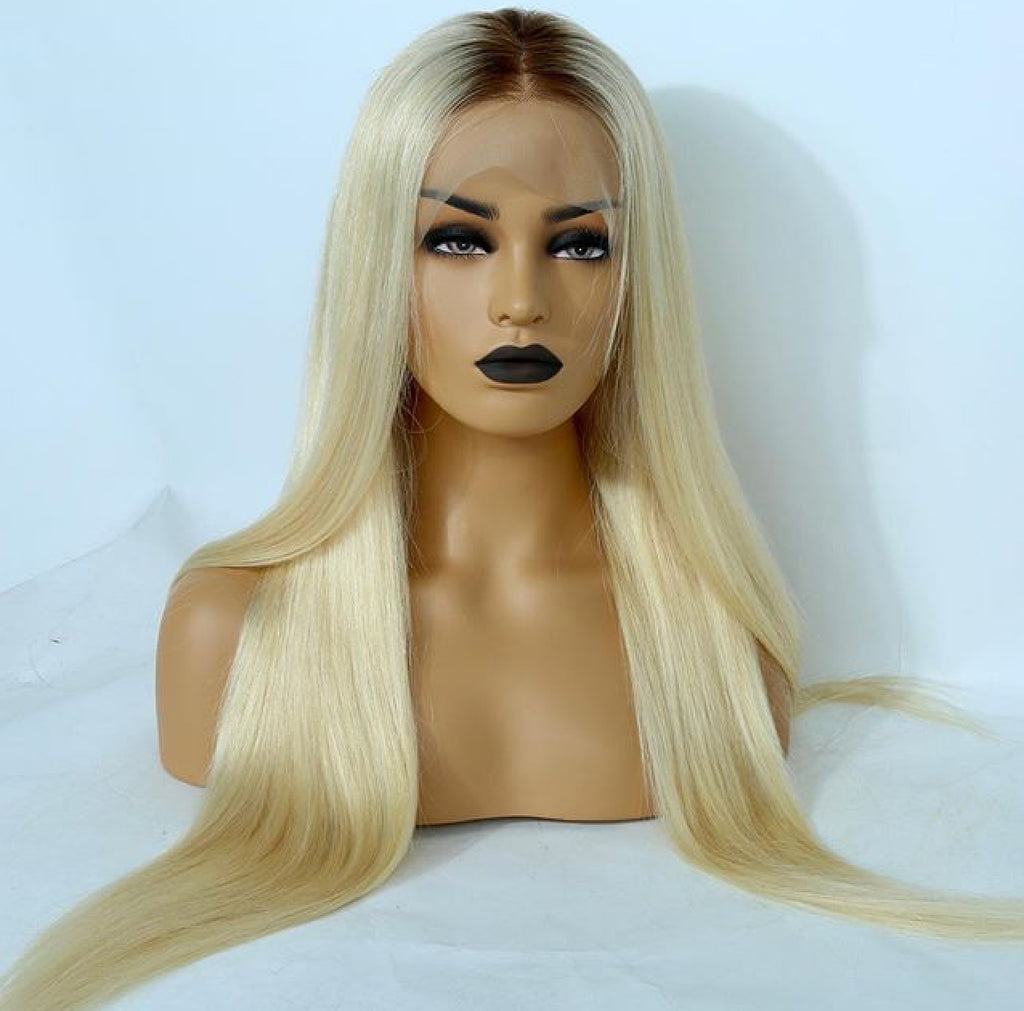 1b/613 Cambodian Mink Straight Lace Frontal Wig