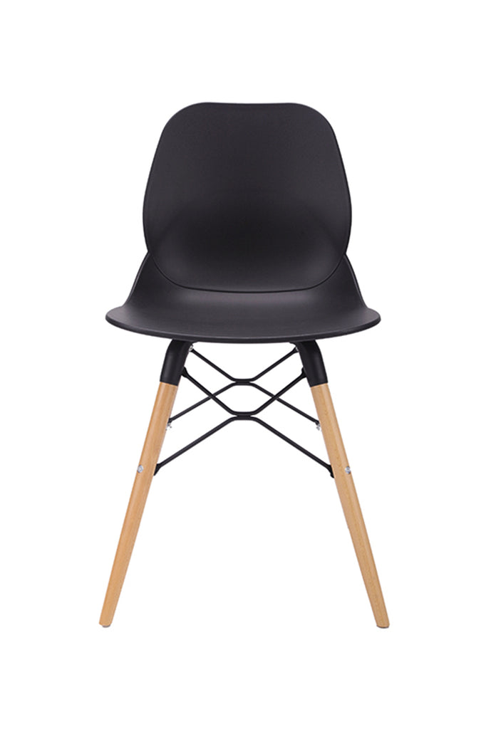 Silla LEAF WOOD COLOR NEGRO I EARLY BIRD 30% DCTO!!