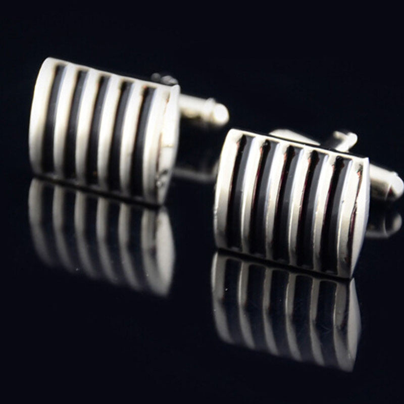 Mens Cuff Link Drip Paint Color Stripes Cufflinks