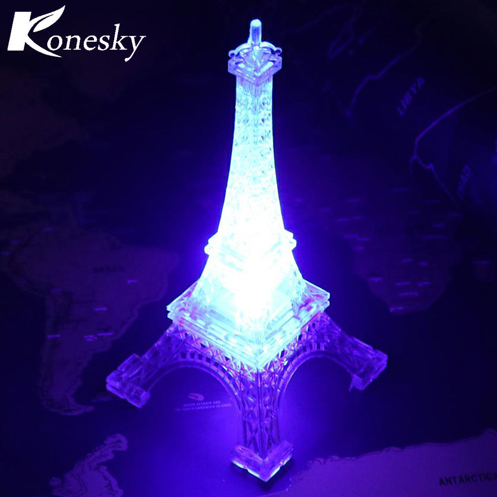 Romantic Eiffel Tower Table LED Night Light Desk Lamp for Christmas Wedding Holiday Decoration Bedroom Decor Lamp