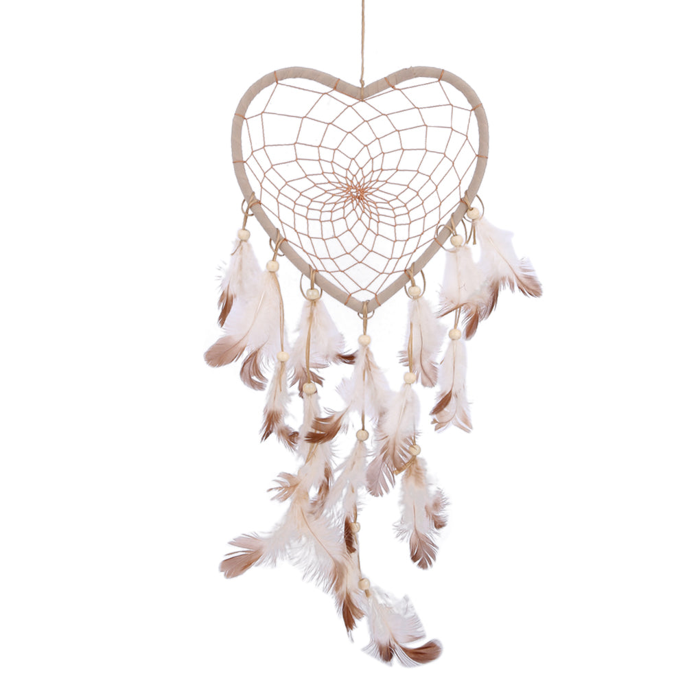 Heart Shape Handmade Dream Catcher Net With Feathers Wall Hanging Decorative Dreamcatcher Home Decoration Ornament dromenvanger