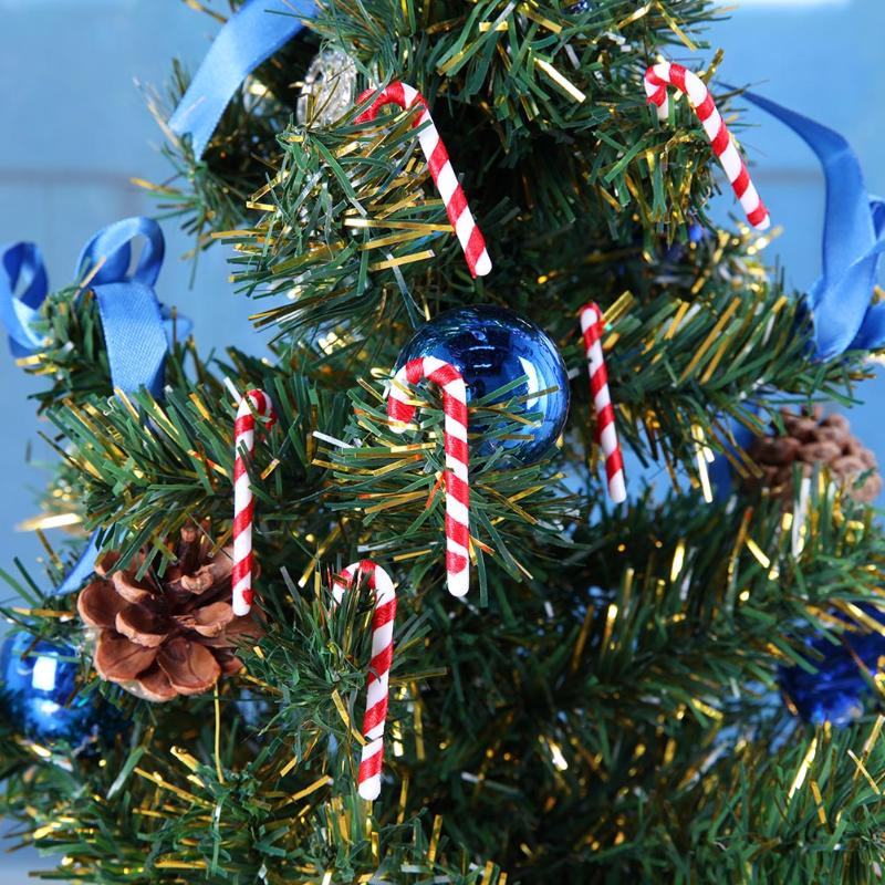 50Pcs/lot Candy Cane Christmas Tree  Hanging Ornaments