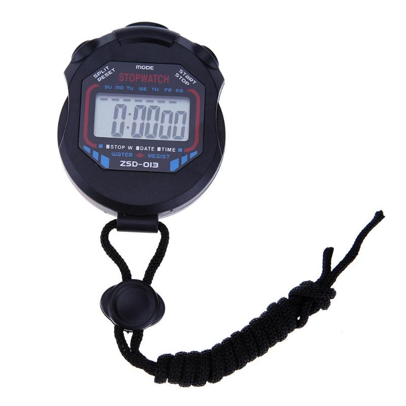 Kitchen Countdown Magnetic Timer, Sports Stopwatch Professional Handheld Digital LCD Sports Stopwatch Counter Timer with Strap