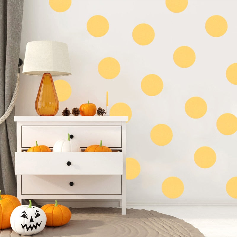 Vinyl Polka Dot Wall Stickers  54Pcs