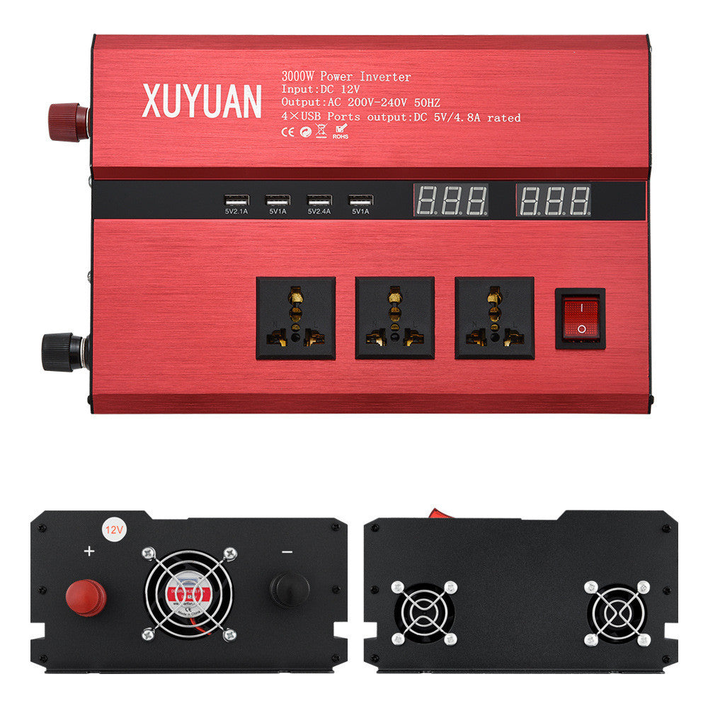 Portable 12V to 110V Auto Car Power Converter, Inverter, Adapter, Charger