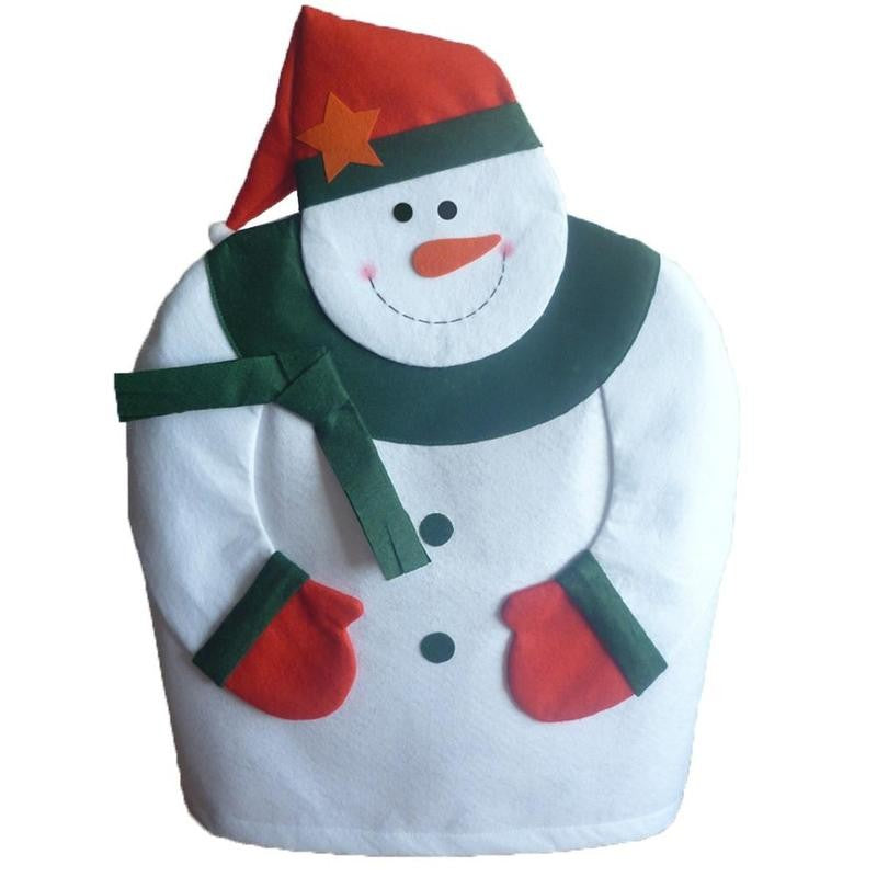 christmas decorations christmas snowman chair set christmas chair cover