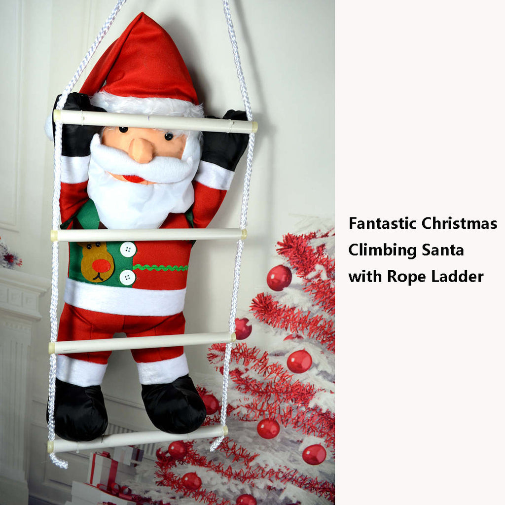 Big Christmas Santa Claus Climbing Rope Ladder , Indoor/Outdoor