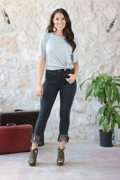 THE MISS MOLLY BLACK DENIM