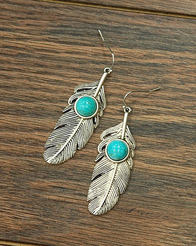 THE FEATHERED STONE EARRINGS
