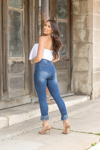 THE MISS MOLLY DARK WASH DENIM