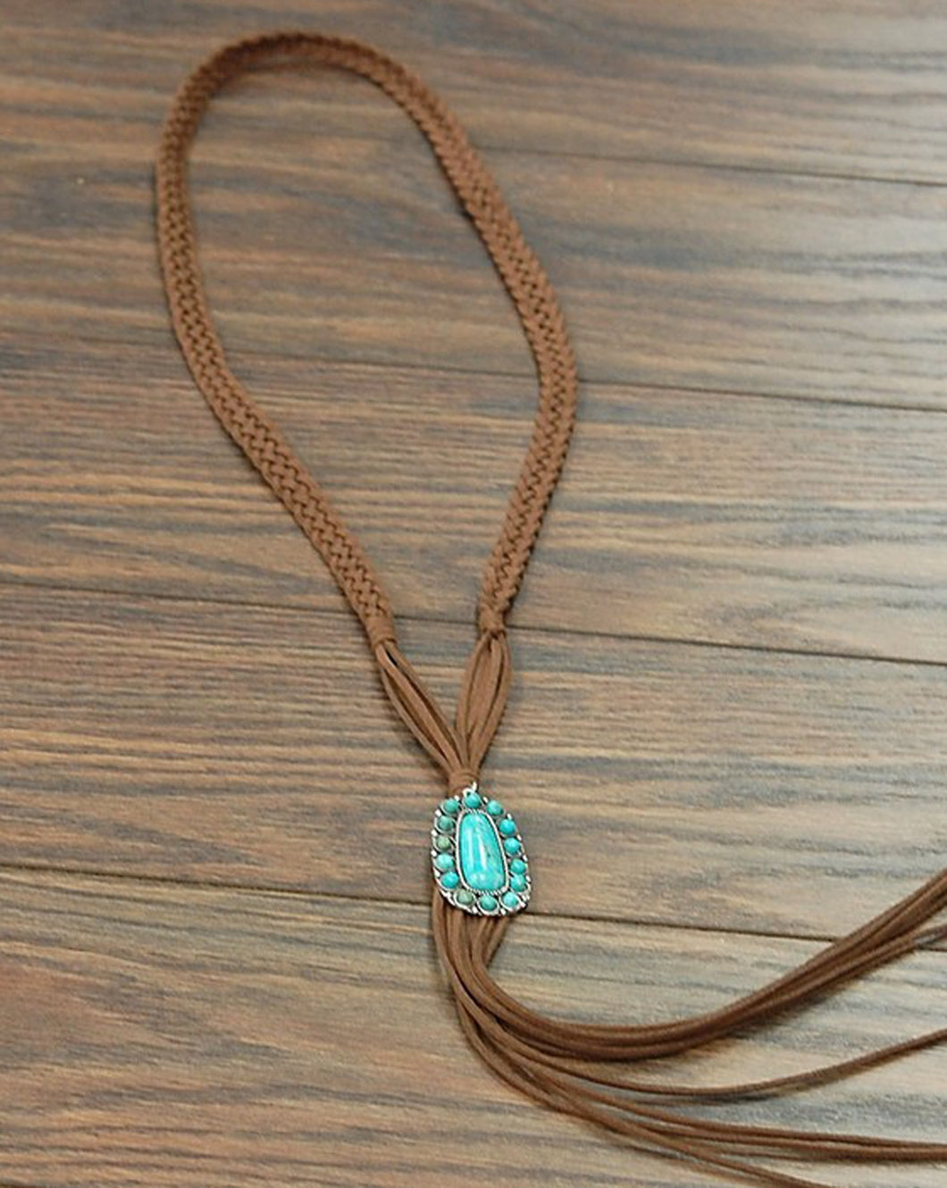 THE SPITFIRE BRAIDED SUEDE NECKLACE