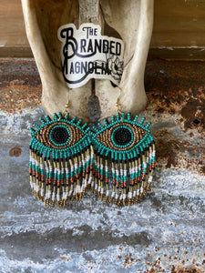 THE TURQUOISE EYE EARRINGS