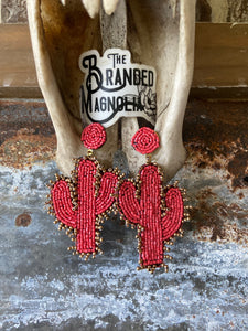 THE CORAL CACTUS EARRINGS