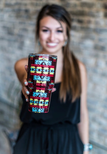 THE BLACK CHERRY AZTEC TUMBLER