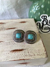 Load image into Gallery viewer, THE SAN CARLOS TURQUOISE STUDS