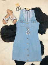 Load image into Gallery viewer, THE BLUE JEAN BABE DRESS