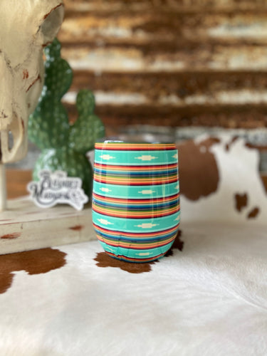 THE JADE AZTEC SERAPE WINE TUMBLER