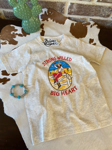 THE STRONG WILLED BIG HEART KIDS TEE
