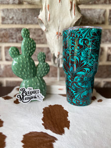 THE TURQUOISE TOOLED TUMBLER