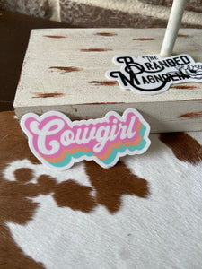 THE RETRO COWGIRL STICKER