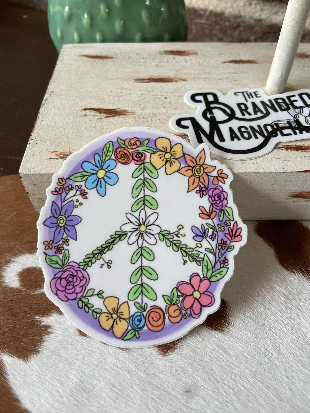 THE FLORAL PEACE SIGN STICKER