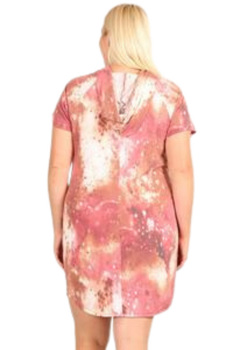 Tie-dye Print Relaxed Fit Dress