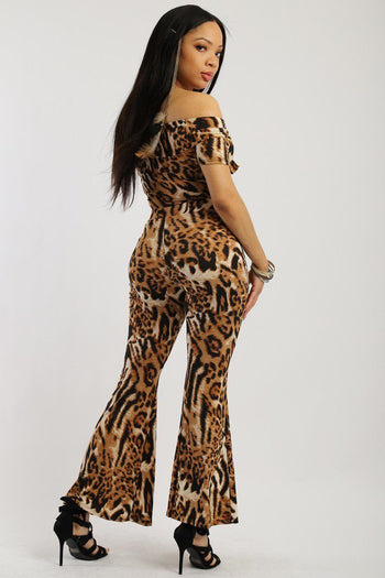 Animal Print, Two-piece Pant Set