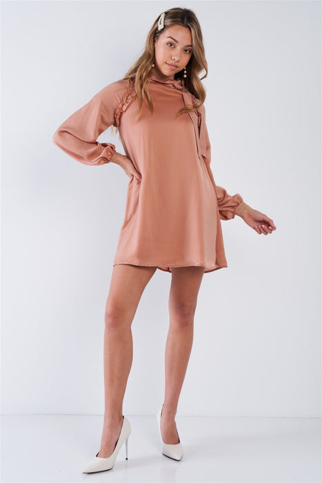 Satin Side-tie Mini Dress