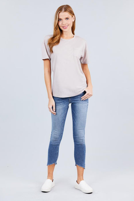 One Pocket Box Knit Top