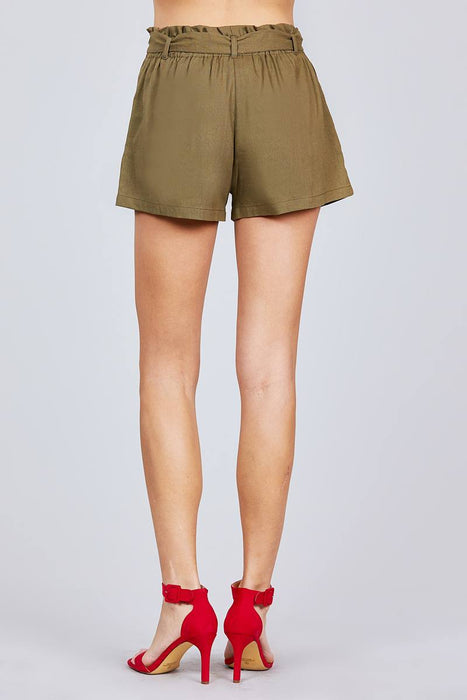 Paper Bag W/bow Tie Shorts