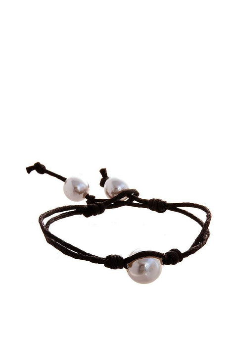 Fashion Pearl Accent Wire Bracelet