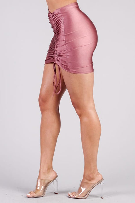 Sexy Ruched Mini Pencil Skirt
