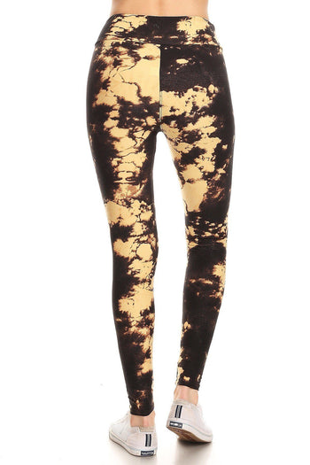Tie Dye Print High Waist Leggings
