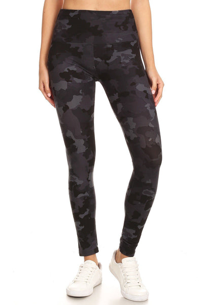 Camouflage Printed High Waist Legging