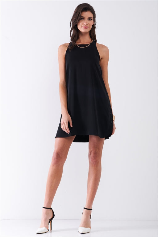 Sleeveless Racerback Mini Tent Dress